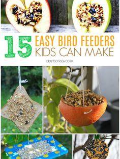 Easy Bird Feeders Kids Can Make - Crafts on Sea Kunstprojekte Einfach Camping Crafts For Kids, Easter Crafts For Toddlers, Easy Crafts For Kids, Summer Crafts, Toddler Crafts, Preschooler Crafts, July Crafts, Mason Jar Crafts, Mason Jar Diy