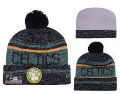 premium selection 7b506 a2a07 Men s   Women s Boston Celtics New Era NBA Hardwood Court Snow Dayz Cuffed  Pom Knit Beanie