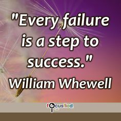 """Every failure is a step to success."" #quote #inspire #motivate #inspiration #motivation #lifequotes #quotes #youareincontrol #failure #failurequotes #success #successquotes #focusfied #perspective"
