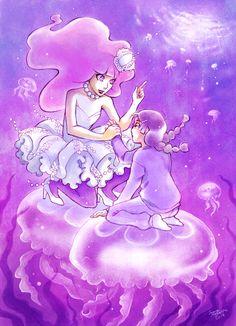 to the surface by saarakala on DeviantArt to the surface by saarakala on Devian. - to the surface by saarakala on DeviantArt to the surface by saarakala on DeviantArt , - Jellyfish Facts, Jellyfish Tank, Jellyfish Painting, Blue Jellyfish, Jellyfish Drawing, Jellyfish Aquarium, Princess Jellyfish, Anime Cat, Anime Princess