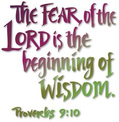 The Fear of the Lord.