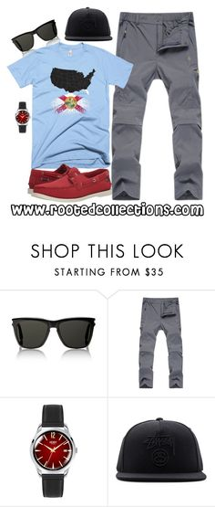 """""""rooted collections - OOTD #38"""" by rootedcollections on Polyvore featuring Yves Saint Laurent, Henry London, Stussy, Sebago, men's fashion, menswear, ootd and florida"""