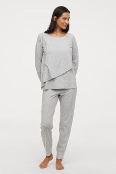 f8db932fa39f7 H&M MAMA Nursing Pajamas - Gray. Nursing PajamasPajama TopPost  PregnancyMaternity WearPyjamasLounge WearPeplum DressCapri PantsSweatpants