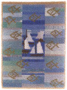 Rya Rug, Wool Rug, Carpet, Textiles, Quilts, Blanket, Rugs, Knitting, Wall Hangings