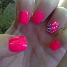 Super Nails Colors Summer Pink Ring Finger 25 Ideas - All For New Hairstyles Hot Pink Nails, Fancy Nails, Love Nails, Trendy Nails, Pink Summer Nails, Bright Nails, Bright Pink, Manicure Y Pedicure, Shellac Nails