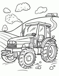 Tractor Trailer Coloring Pages. 20 Tractor Trailer Coloring Pages. Tractor Trailer Coloring Pages Hellokids Tractor Coloring Pages, Monster Truck Coloring Pages, Farm Animal Coloring Pages, Coloring Pages For Boys, Coloring Pages To Print, Coloring Book Pages, Kids Colouring, Free Coloring, Printable Christmas Coloring Pages
