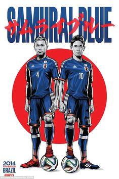 AC Milan's Keisuke Honda and Manchester United's Shinji Kagawa pair up for the Japan poster