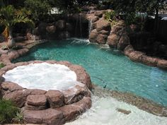 make pool smaller with raised jacuzzi