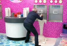 "In a flashback, an old man assumed to be Pierce breaks a yogurt machine just like Pierce did in Urban Matrimony and the Sandwich Arts. Rachel mentioned how she used to run the frozen yogurt machine until ""some old guy broke it"" in Herstory of Dance. Flashback Pierce then fakes a heart attack just like Pierce first did in A Fistful of Paintballs. Frozen Yogurt Machine, Heart Attack, Guy, Community, Urban, Dance, The Originals, Dancing"