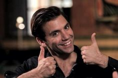 Mika thumbs up - interview with Nick Grimshaw