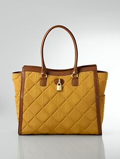 Talbots - Quilted Nylon Tote