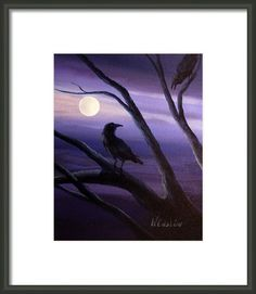 Midnight Framed Print By Wayne Enslow Artwork Prints, Framed Prints, Acrylic Paintings, Hanging Wire, Prints For Sale, Fine Art America