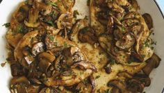 "Chicken Marsala on the Lighter Side from ""The Skinnytaste Cookbook"" by Gina Homolka. via The Splendid Table"