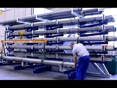 Industrial Home Design, Industrial House, Warehouse Layout, Steel Storage Rack, Store Layout, Vertical Storage, Kaizen, Machine Tools, Raw Materials