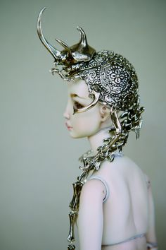 Beetle headdress by Enchanted Doll. Love the inspiration from this one, even though it's for a doll rather than an actual person