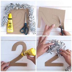 New Year's Eve with Kids - Tips and Tricks until midnight - Silvester Dekoration ♡ Wohnklamotte - New Years Eve Decorations, Balloon Decorations, Birthday Party Decorations, New Year's Crafts, Crafts For Kids, Deco Nouvel An, Diy Silvester, Family New Years Eve, New Year's Eve Activities