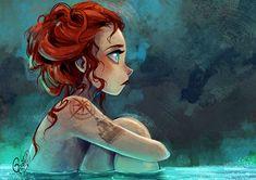 65 Ideas Tattoo Mermaid Sketch Character Design For 2019 Cartoon Kunst, Cartoon Drawings, Cartoon Art, Art Drawings, Art And Illustration, Girl Illustrations, Mermaid Tattoos, Girl Tattoos, Character Art