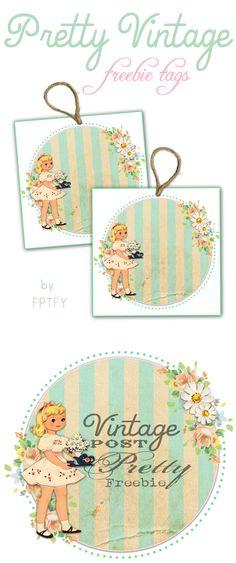 Free printables.. cute vintage