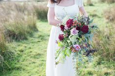 Lovers' Lane: A Rustic Wedding Styled Shoot in Yorkshire. Autumnal wedding bouquet.   Image by Jenny Maden Photography.  Read more: http://bridesupnorth.com/2017/01/30/lovers-lane-a-rustic-wedding-styled-shoot-in-yorkshire/  #wedding