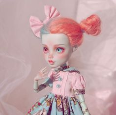 Image may contain: 1 person Custom Monster High Dolls, Monster High Repaint, Custom Dolls, Monster Dolls, Anime Dolls, Ooak Dolls, Barbie Dolls, Doll Repaint Tutorial, Pokemon Dolls