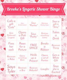 Lingerie Shower Bingo                                                                                                                                                      More