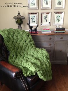 BIG knits are in! Make this gorgeous braided throw with Lion Brand Wool-Ease Thick & Quick!