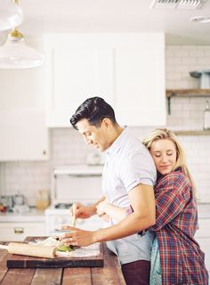 Wedding Photography Cozy Kitchen Engagement Shoot by AVE Styles (Concept and Wardrobe Styling), Alyssa Hodson (Assistant, AVE Styles Intern) Melissa Jill Photography - (Models: Liz Cooking Photography, Lifestyle Photography, Couple Photography, Engagement Photography, Wedding Photography, Digital Photography, Portrait Photography, Photography Editing, Photography Tutorials