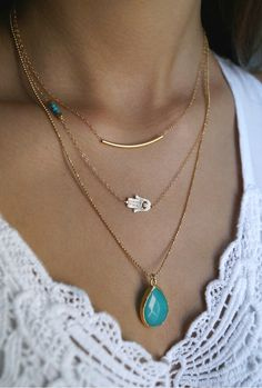 aureat:  Definitely in love with these layered necklaces, in gold and turquoise (my favorite colors) from Maldemer! I have a feeling I'll be wearing these all summer haha She makes a lot of gorgeous necklaces and other pieces of jewelry, you should definitely check them out :)