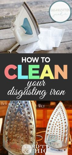 How to Clean Your Disgusting Iron Homemade Cleaning Products, Cleaning Recipes, House Cleaning Tips, Natural Cleaning Products, Deep Cleaning, Cleaning Hacks, Diy Cleaners, Cleaners Homemade, Iron Cleaner
