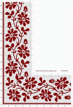 Cross Stitch Geometric, Beaded Cross Stitch, Cross Stitch Rose, Cross Stitch Flowers, Cross Stitch Embroidery, Embroidery Patterns, Crochet Patterns, Cross Stitch Boarders, Cross Stitch Pillow
