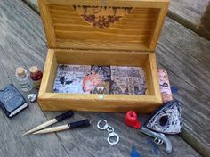 Miniature Vampires Traveling Trunk Ouija Spirit Board Kit! One of a Kind. by HalesHaven on Etsy