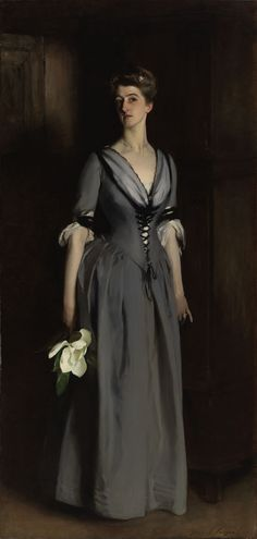 Portrait of Mrs. Albert Vickers (Edith Foster) by John Singer Sargent. 1884 oil on canvas. In the collection of The Virginia Museum of Fine Art, Richmond, VA.