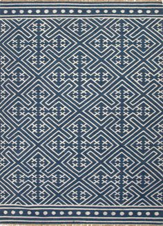 Color: Dark Denim Construction: Flat Weave Content: 100% wool Origin: India