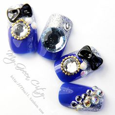 Aliexpress.com : Buy Banquet navy blue nail art finished products finger false nail patch finished product nail art patch 24 finger from Reliable gel nail suppliers on Jessie's shop. $7.58