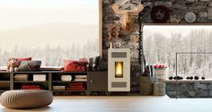 modular pellet stove furniture mia by olimpia splendid 1a Modular Pellet Stove Furniture MIA by Olimpia Splendid