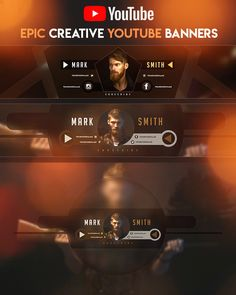 Epic YouTube Banner by youtubebanners Youtube Design, Youtube Banner Design, Youtube Banner Template, Youtube Banners, Free Youtube, You Youtube, Movie Poster Template, Instagram Banner, Gaming Banner