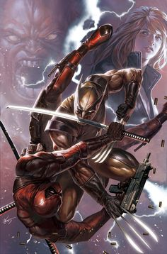 Wolverine vs Deadpool by In-Hyuk Lee