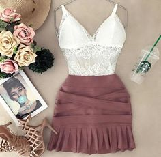 date dress outfit Boho Outfits, Skirt Outfits, Outfits For Teens, Casual Outfits, Cute Outfits, Fashion Outfits, Womens Fashion, Look Fashion, Fashion Design