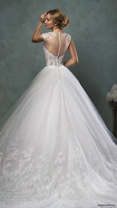 Amelia Sposa 2016 Wedding Dresses  Repinned by Wedding DJ Michael Eric Berrios DJMC #weddinggown #beautiful #amazing