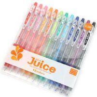 Pilot Juice Gel Ink Ballpoint Pen, 0.38 mm, 12 Color Set (LJU-120UF-12C)