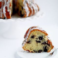 This cake is one of my favorites; it's moist, flavorful, and has a hint of lemon in addition to the blueberries and poppy seeds.