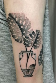 Mariusz Trubisz monstera tattoo