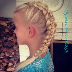 My first ever successful attempt at a stacked braid. See more on Instagram @jennishairdays