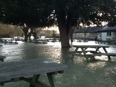 There's a front garden there somewhere, under that floodwater