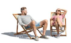cut out man and woman sitting on garden chairs and relaxing in the sun Cut Out People, Garden Chairs, Sun, Woman, Lawn Chairs, Women, Outdoor Chairs, Solar