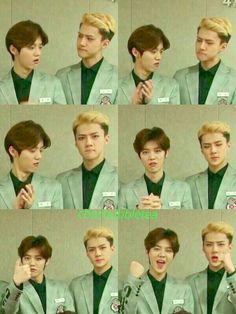 Luhan and sehun. Guys control your face