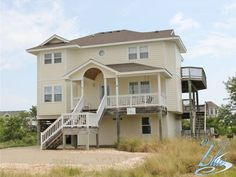 Big house for good price 350 yds to beach. Nice Porch with picnic table for kids meals.