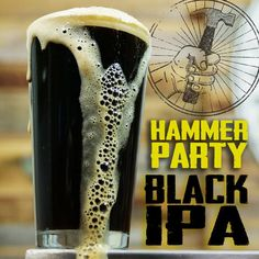 Homebrewing recipes How to Brew a Black IPA: Homebrew Beer Recipe Clawhammer Supply Beer Brewing Kits, Brewing Recipes, Homebrew Recipes, Beer Recipes, Beer Brewery, Make Beer At Home, How To Make Beer, Ipa Recipe, Black Ipa