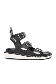 Leather Rance Buckle Sandals