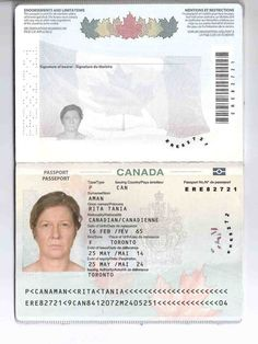 We are produce original canadian Passports. we can also produce passports that are ideal for people who want to work in canada.